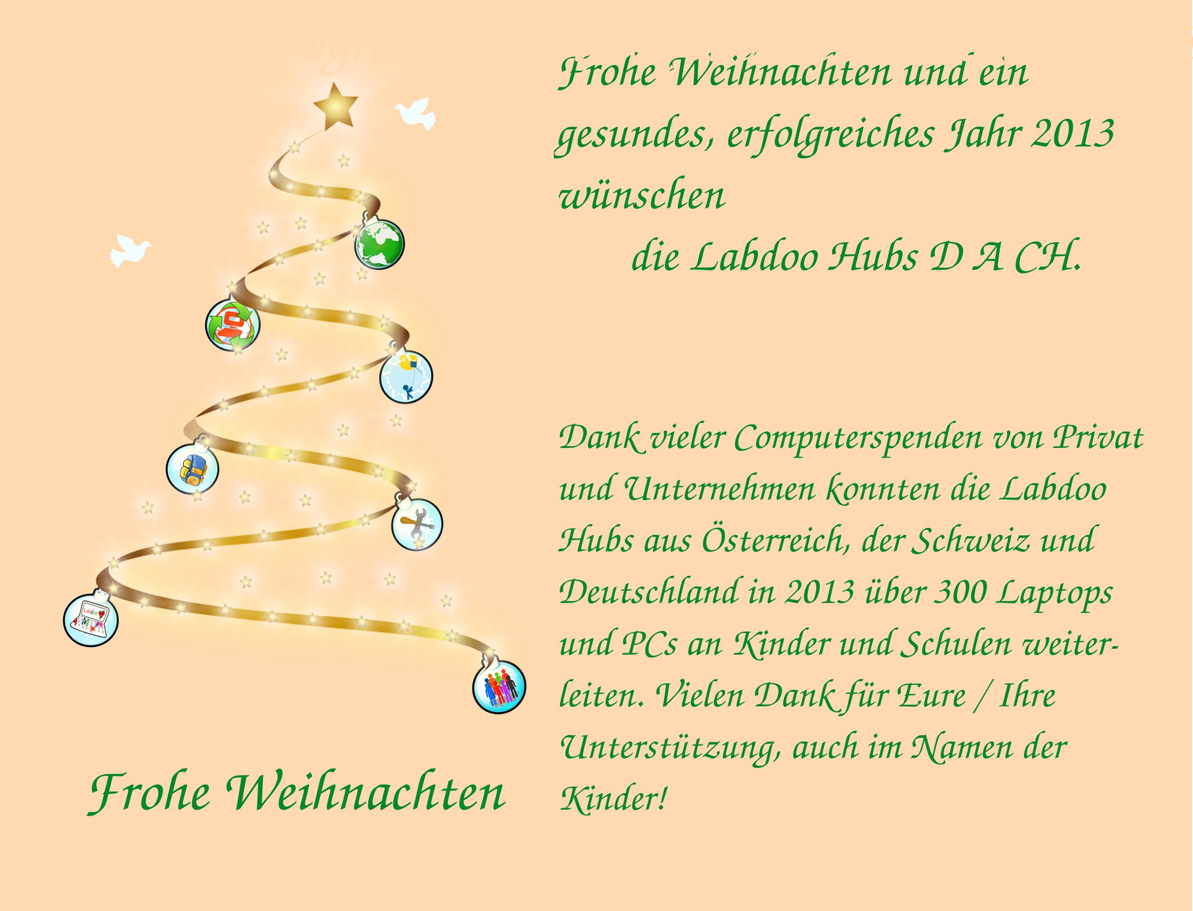 Labdoo Newsletter In Deutsch 2012 Weihnachten Labdoo